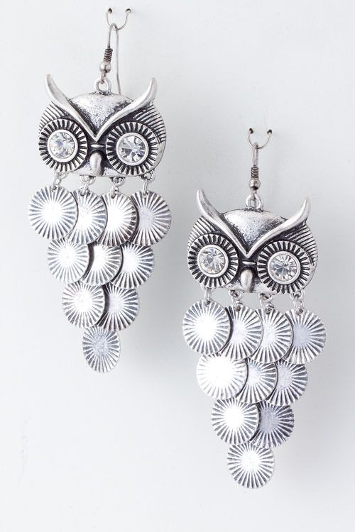 Stacy Schmidt These Are For You Owl Dangle Earrings