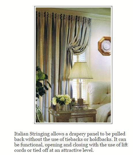 Definition Of Italian Strung From Drapery Design Blog Allows For