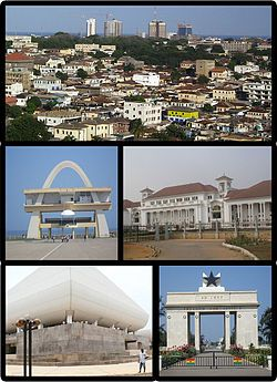 Accra, Ghana  http://en.wikipedia.org/wiki/Accra