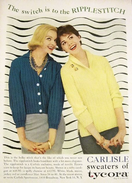 Vintage 1958 Carlisle Pretty Sweater