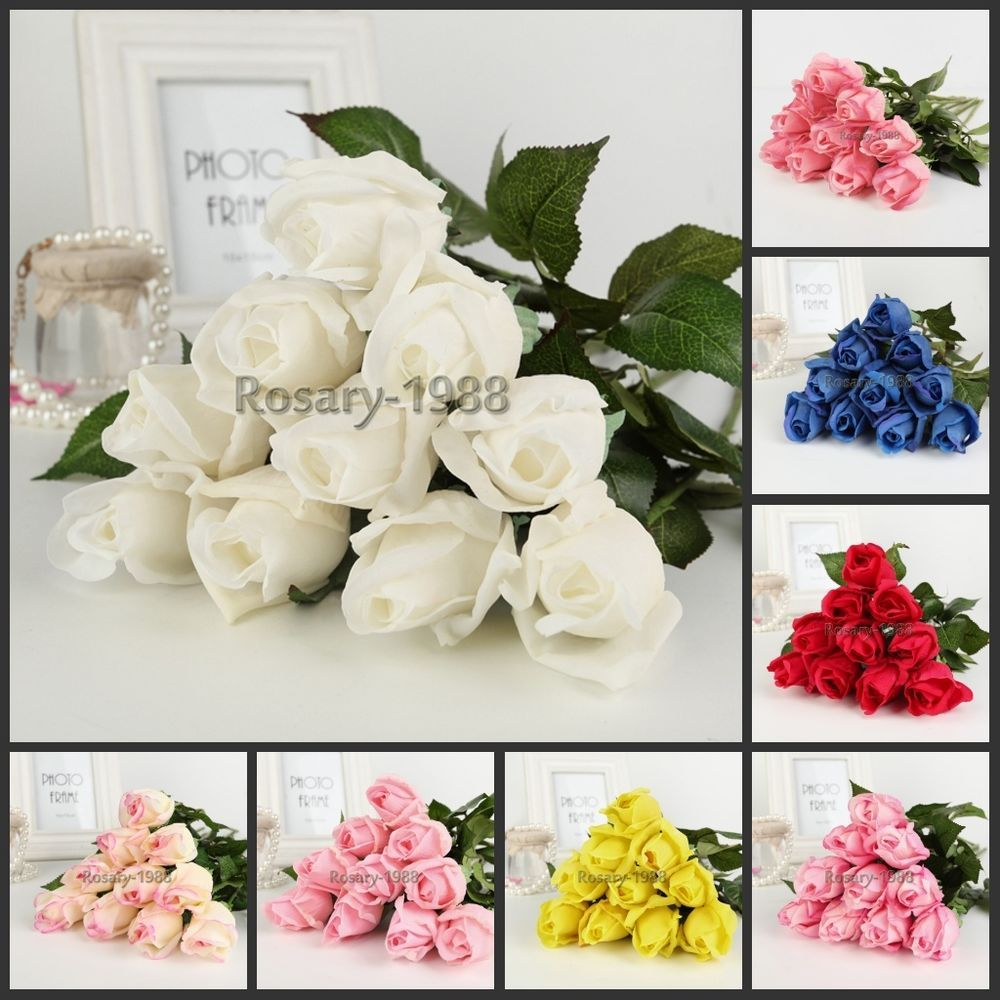 8pcs-24pcs Latex Real Touch Rose Flowers Bouquet wedding Home Decor  #Unbranded
