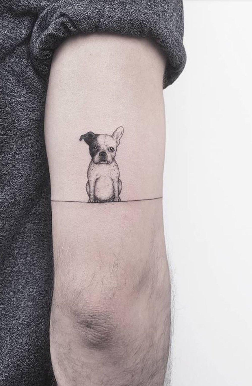 30 Cute Small Simple Dog Tattoo Ideas For Women Animal Lovers Tattoo Designs Men Elbow Tattoos Small Tattoo Designs