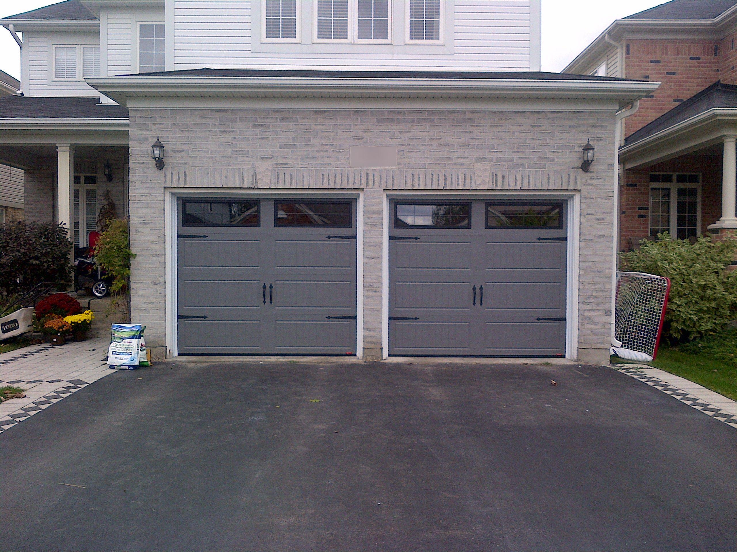 Garaga North Hatley Long Panel In Charcoal I 10848 Exterior Brick Garage Doors Outdoor Decor