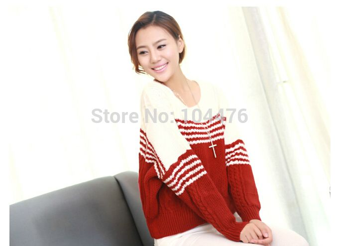 Find More   Information about Free shipping women sweater outerwear batwing sleeve loose sweater pullover stripe casual knitted sweaters top tricotado poncho,High Quality  ,China   Suppliers, Cheap   from Perfect And Fashion Merchandise Store  on Aliexpress.com