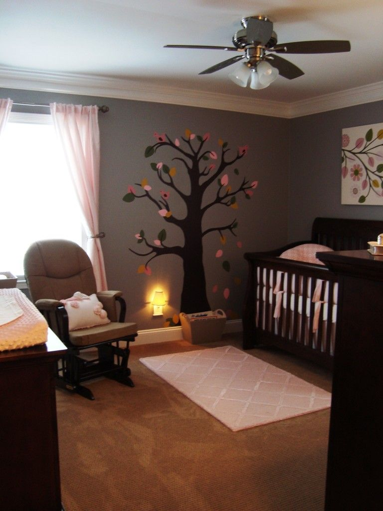 Living Room Borders Scruffy Bear Nursery Decor Walls Painted Neutral With Pink Stone
