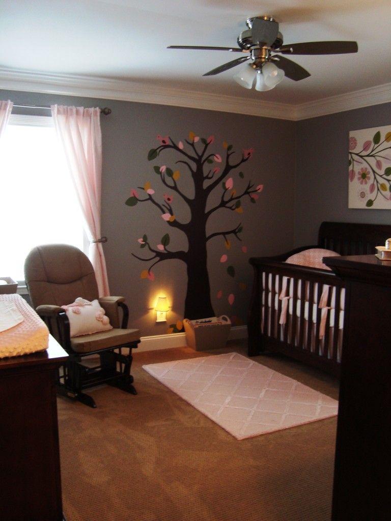 Baby Boy Nursery Ideas Gray: Brown Crib, Girl Room, Girl Nursery