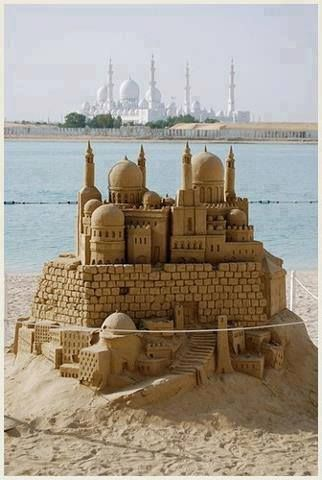 Sheikh Zayed Mosque Sand Castle Sand Sculptures Sand Art Sand Castle