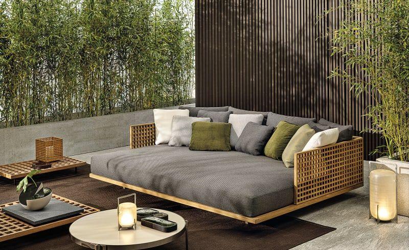Das Japanische Design Studio Nendo Entwirft Fur Minotti Outdoor Lounge Mobel Dachterrasse Mobel Garten Couch