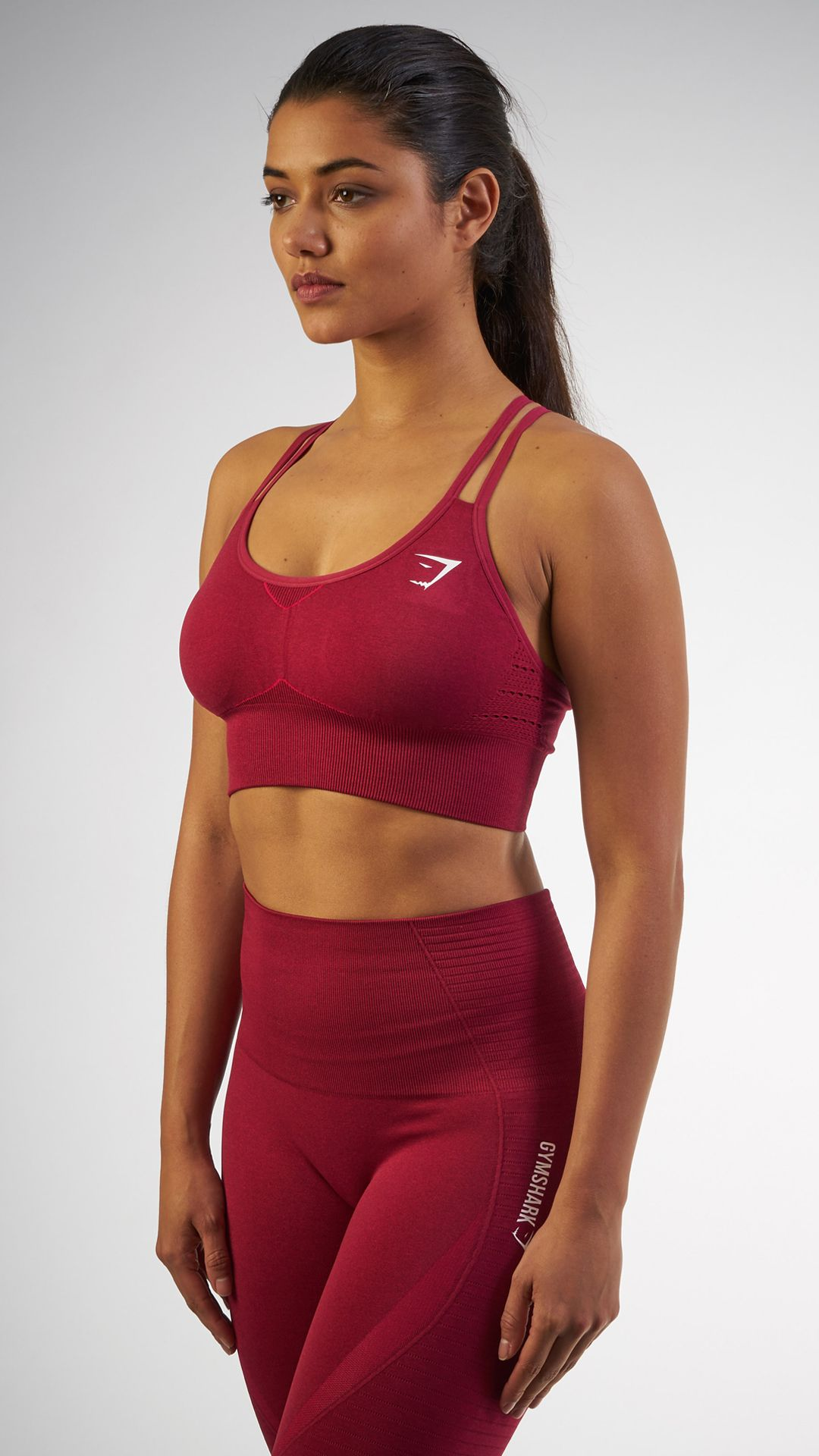 c64c92ae3a Seamless evolution. The Seamless Cross-Back Sports Bra in Beet is a  beautiful and comfortable addition to any workout