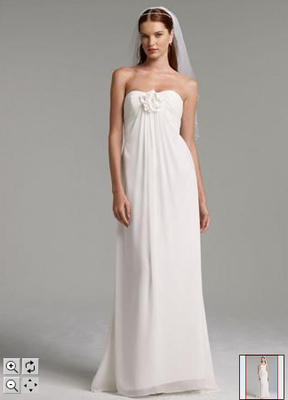 Davids Bridal Wedding Dress Is Simple And Perfect For A Beach Size 14