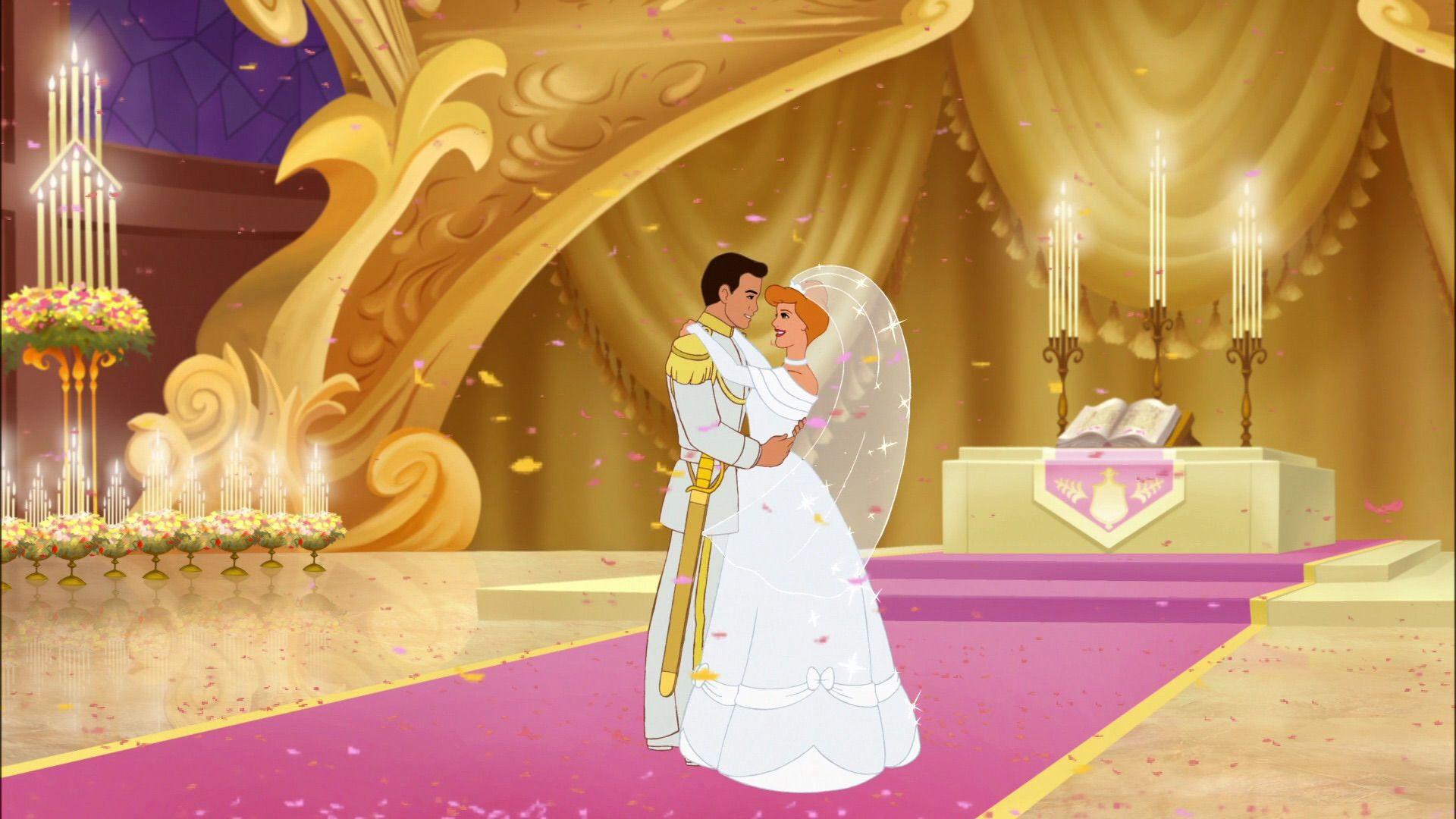 cinderella and prince charmings wedding day cinderella