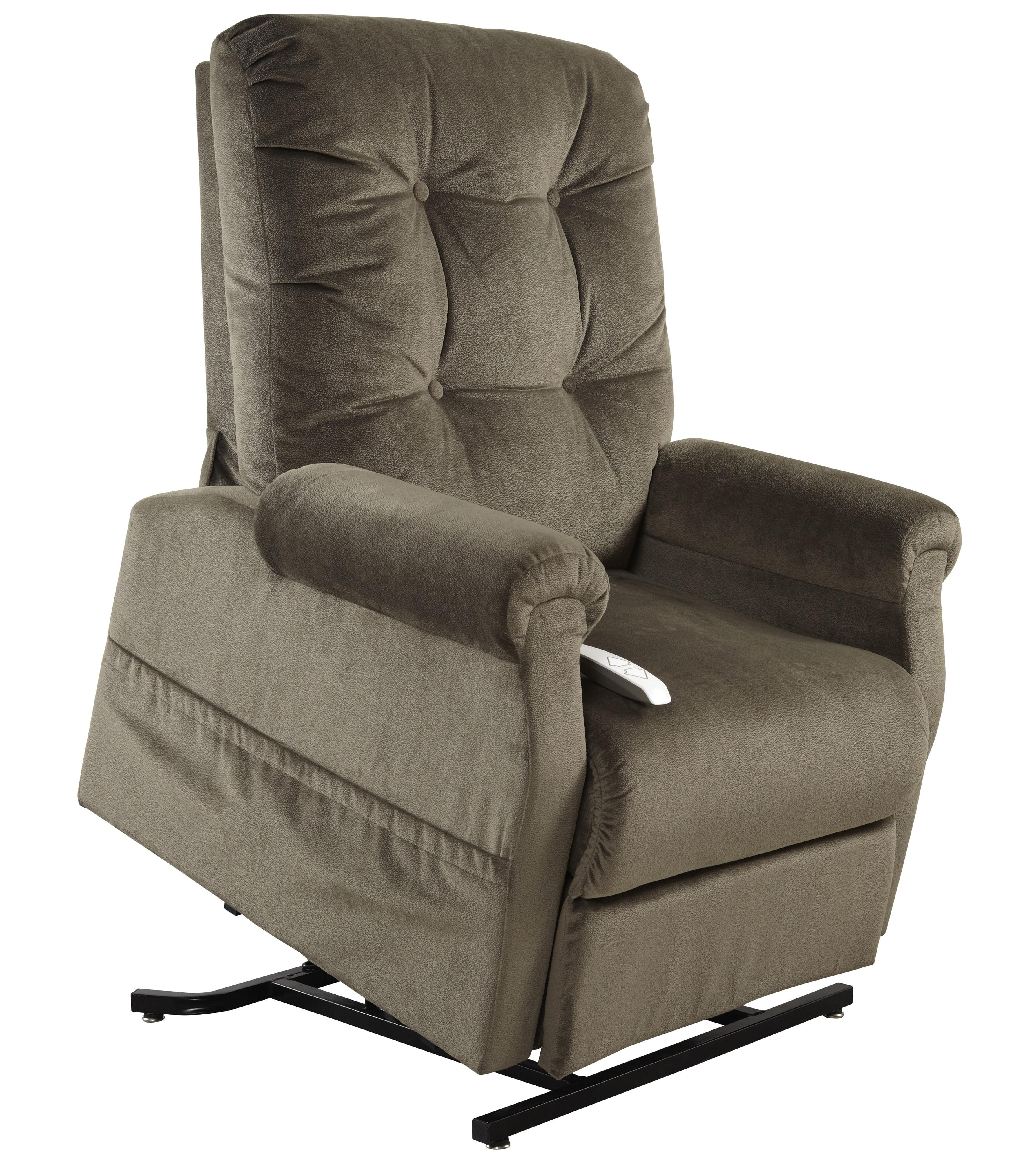 This three position power reclining lift chair will help