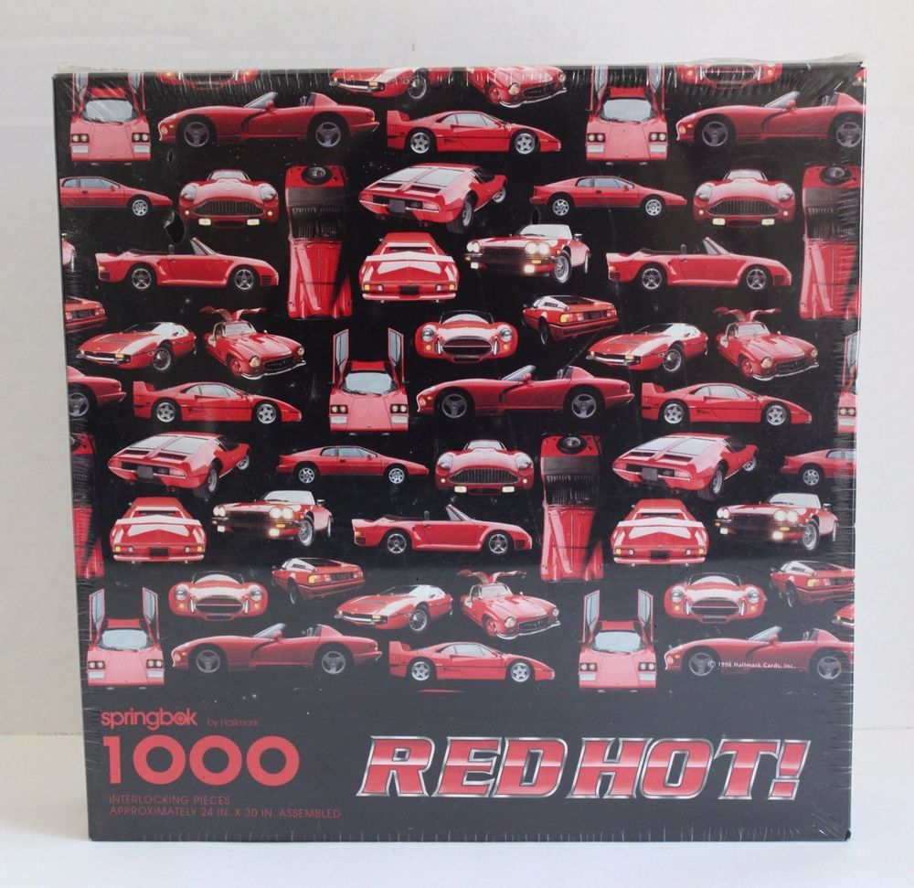 "Springbok Red Hot Racing Cars 1000 Piece 24"" X 30"" Jigsaw"