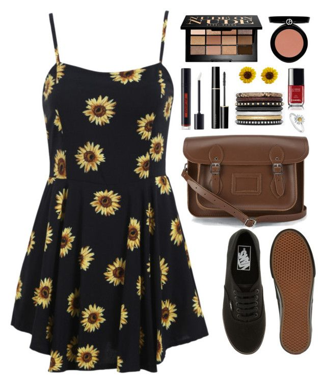 """Untitled #210"" by flamboozie ❤ liked on Polyvore featuring Vans, Bobbi Brown Cosmetics, Giorgio Armani, SUQQU, shu uemura, Yves Saint Laurent, The Cambridge Satchel Company and Daisy Jewellery"