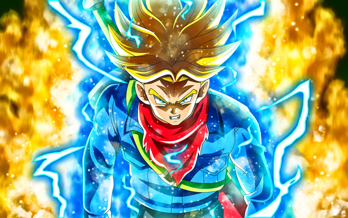 Download Wallpapers Dragon Ball Super Mirai Trunks Saiyan