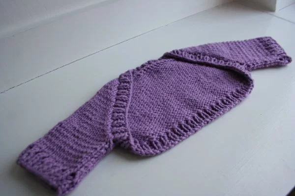 Free Pattern: Confection Baby Shrug | Shrug knitting ...