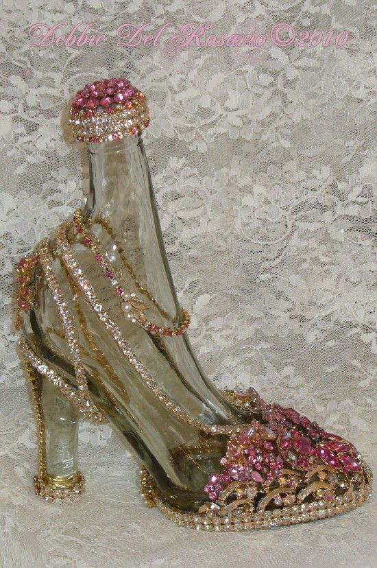 961d10e08ec Beautiful Cinderella Pink High Heel Jeweled Shoe Show Stopper. FINALLY THEY  EXIST!!!! :-)