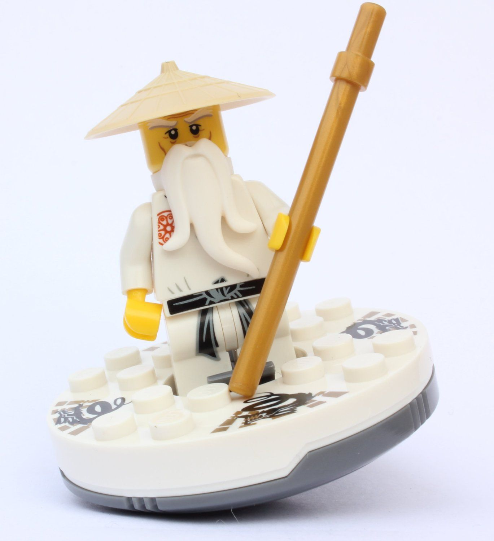 Amazon Com Lego Ninjago Sensei Wu White Outfit With Spinner Toys Games Lego Ninjago Sensei Wu Lego Ninjago Ninjago