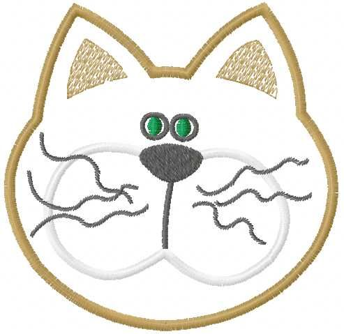 Cat Applique Hot Placemat Free Embroidery Design Applique Free