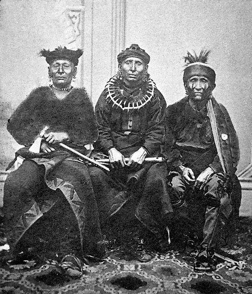 Osage men - circa 1865