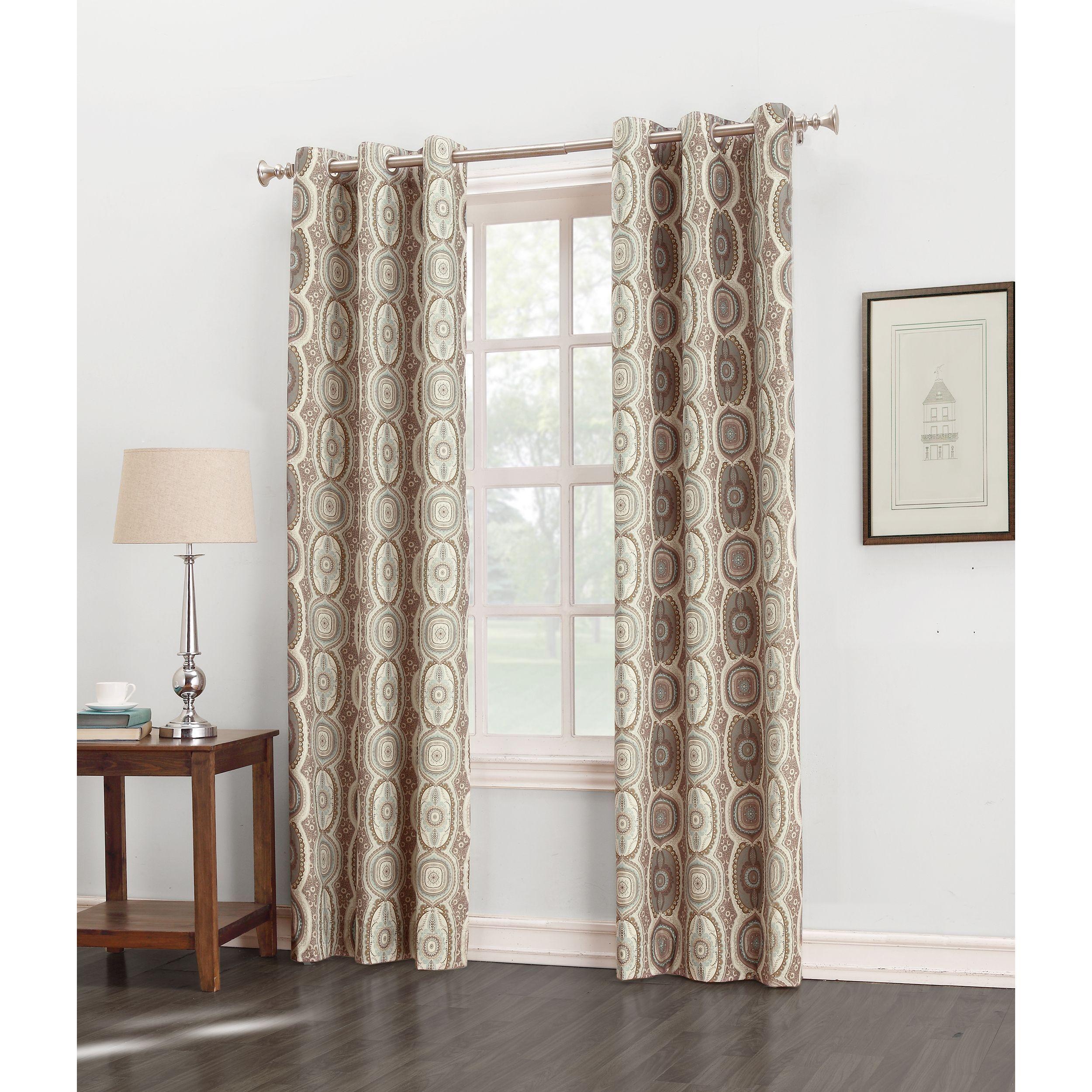 Sun zero carlene grommet thermal lined window curtain panel linen