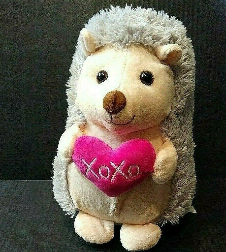 Hug Fun Plush Hedgehog Hugfun Stuffed Animal 11 Animal Valentine Plush Stuffed Animals Animal Hugs [ 1016 x 911 Pixel ]