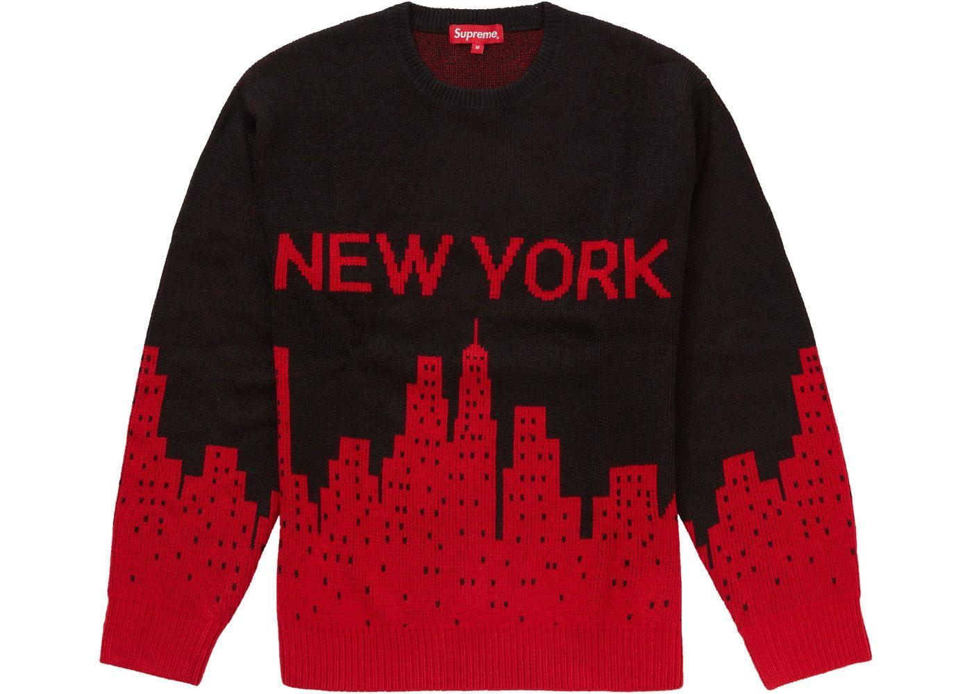 Supreme New York Sweater Black In 2021 New York Sweatshirt Sweaters Supreme Sweater [ 1000 x 1400 Pixel ]