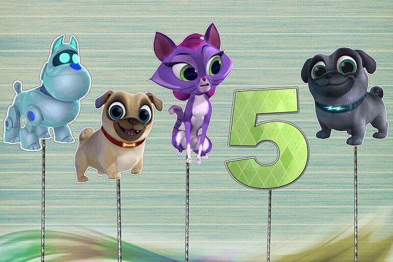 Puppy Dog Pals Centerpiece Pets Cake Topper Birthday Decoration
