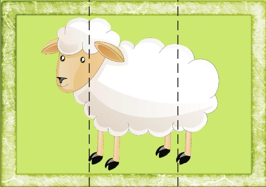 картинка пазл коза маникюр классика, которая