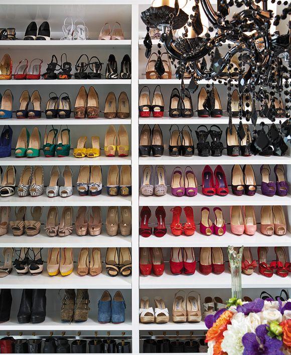Creative Shoe Closet Organization Ideas Series Flower