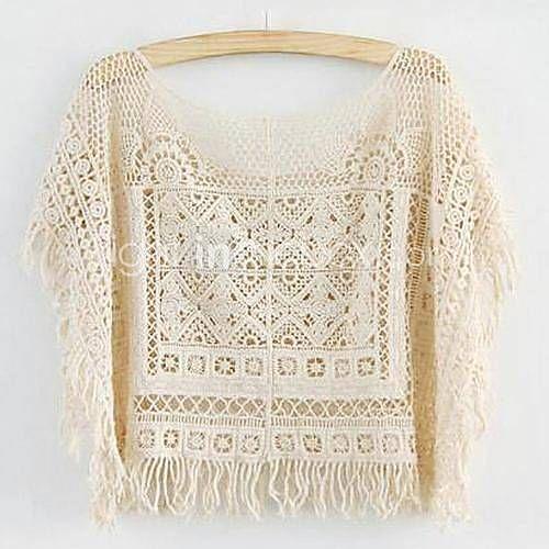 Mujeres Gorgeous Knitting Crochet Hollow Knit la blusa 2015 – $10.591