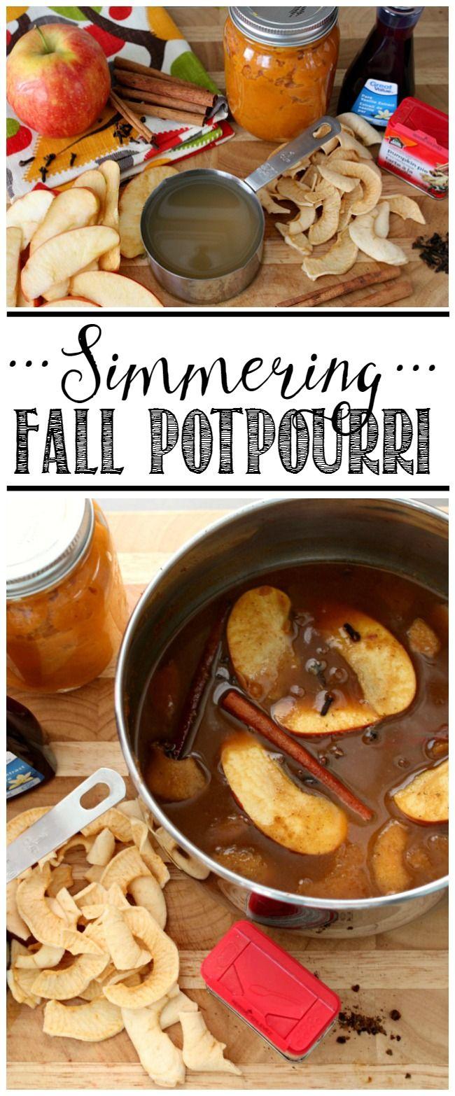 Potpourri Fai Da Te.Fall Simmering Potpourri Recipes Halloween Fall Pinterest