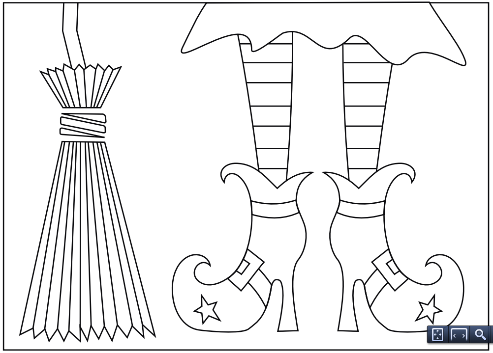 9 fun free printable Halloween coloring pages | Witch shoes ...