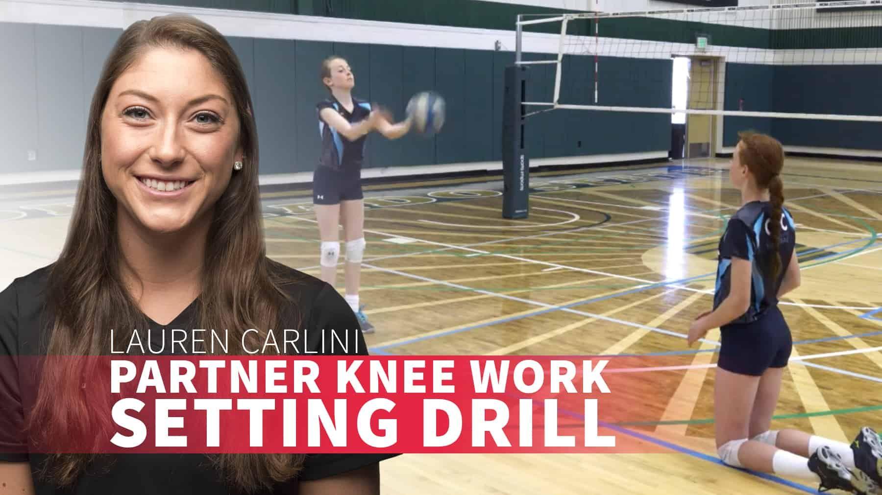 Partner Knee Work Setting Drill The Art Of Coaching Volleyball Coaching Volleyball Drill Usa National Team