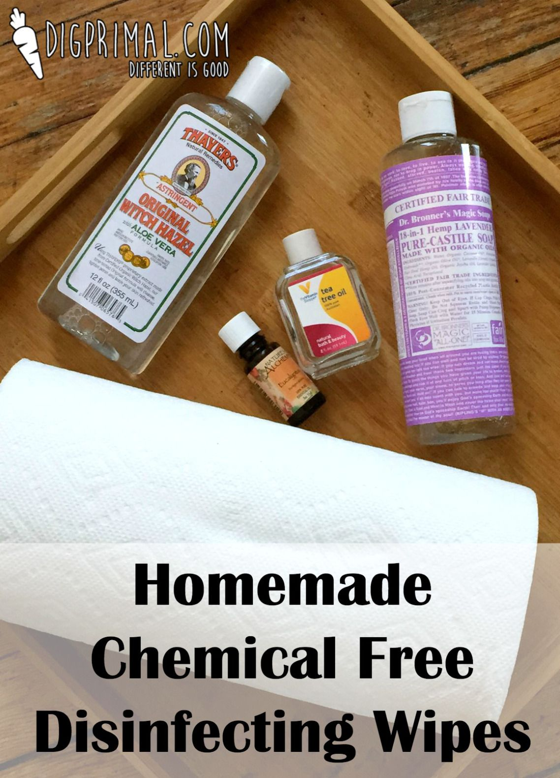 Homemade Chemical Free Disinfecting Wipes Disinfecting