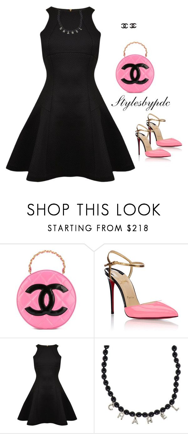 """""""Vintage Chanel... For Pink Lover"""" by stylesbypdc ❤ liked on Polyvore featuring Chanel, Christian Louboutin, Ted Baker and vintage"""