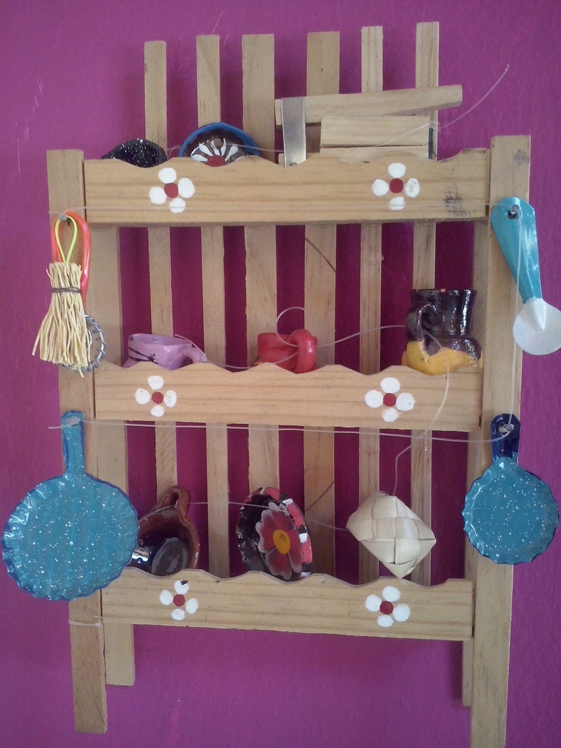 Artesania mexicana juguete para ni as trastero mi for Trasteros de madera