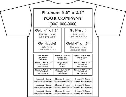For TShirt Sponsorship Levels – Sample Sponsor Form