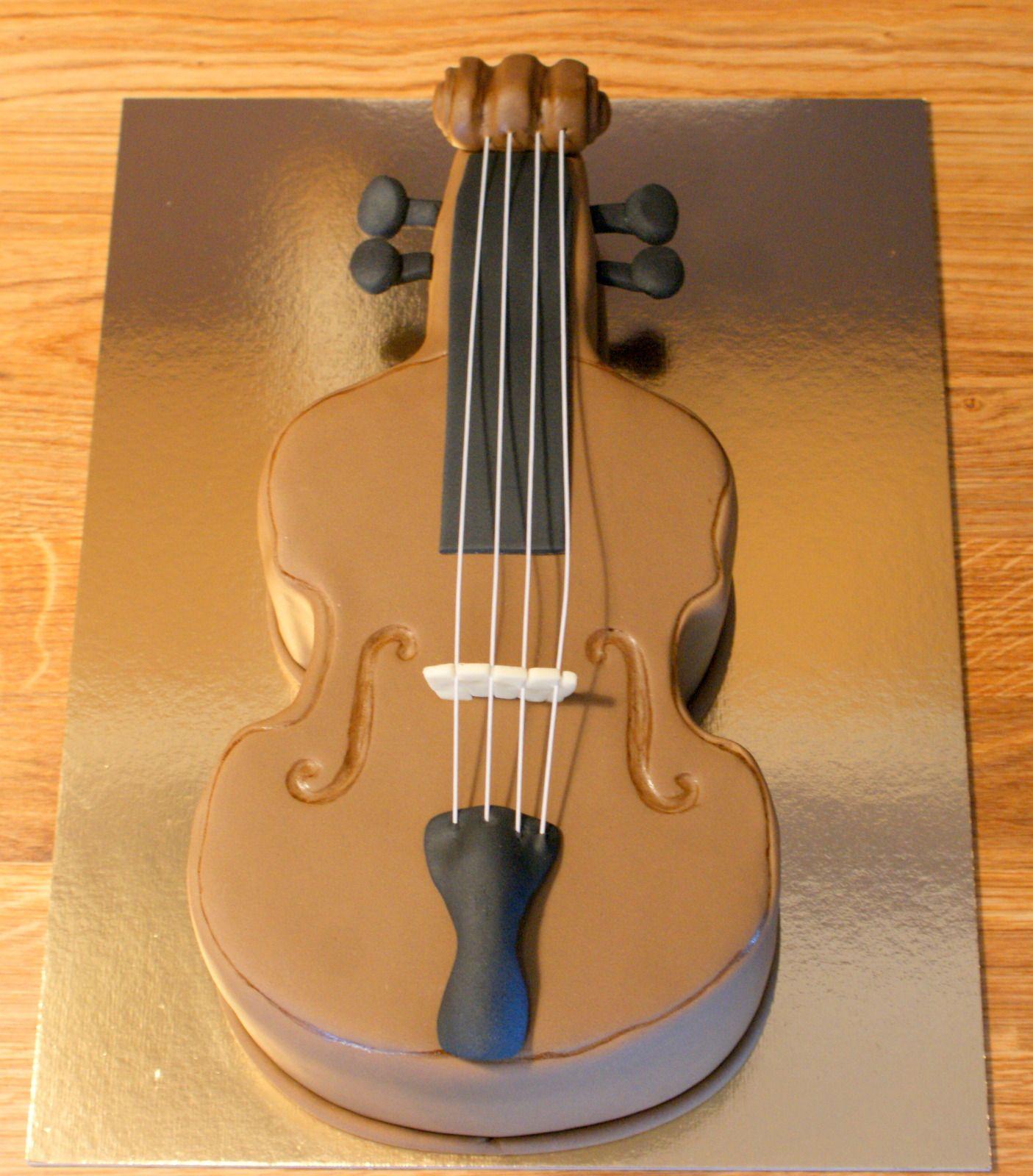 How To Make A Violin Shaped Cake