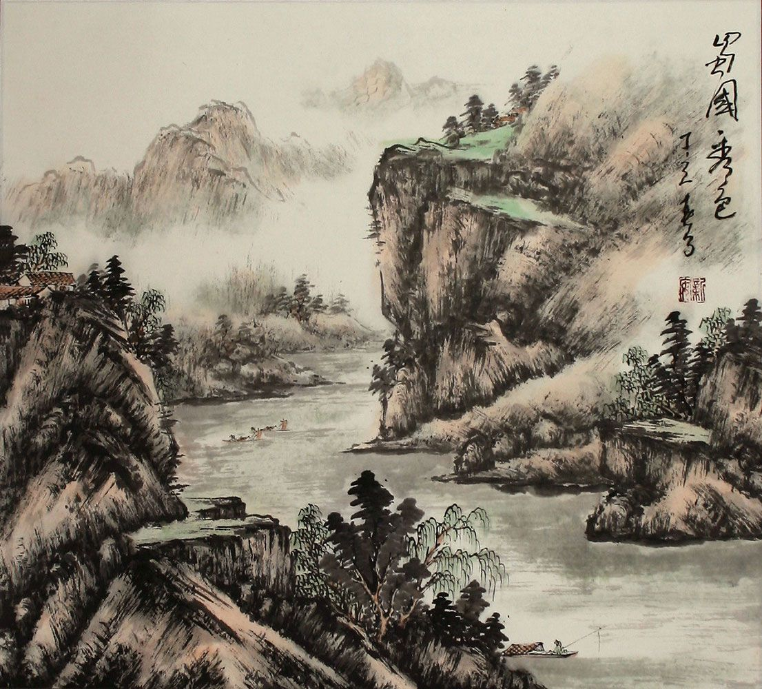 Japanese landscape painting google search landscapes for Japanese landscape