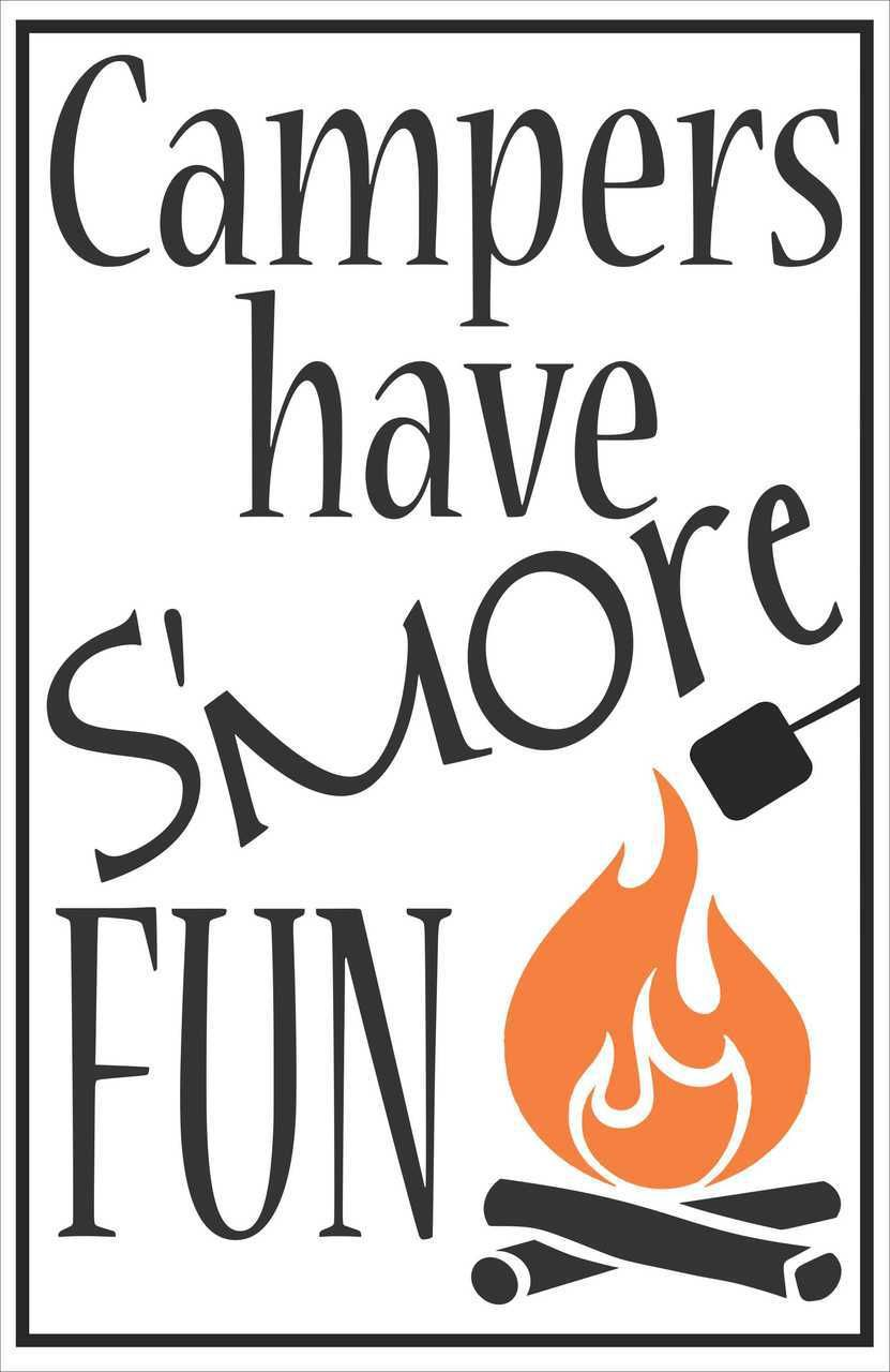 Campers Have S'more Fun Summer Quotes Vinyl Decal Saying | Fun summer quotes, Camper quotes ...