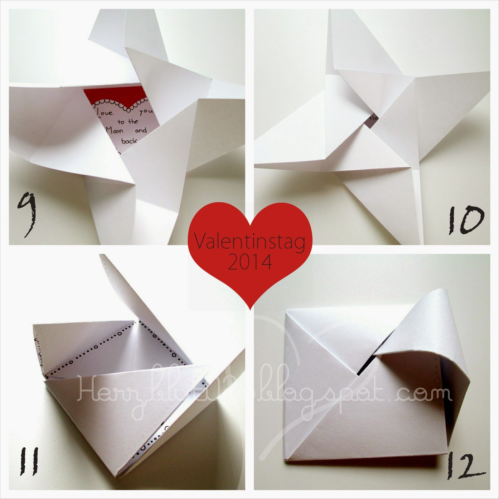 herzblut ein diy blog origami karte zum valentinstag folding pinterest zum valentinstag. Black Bedroom Furniture Sets. Home Design Ideas