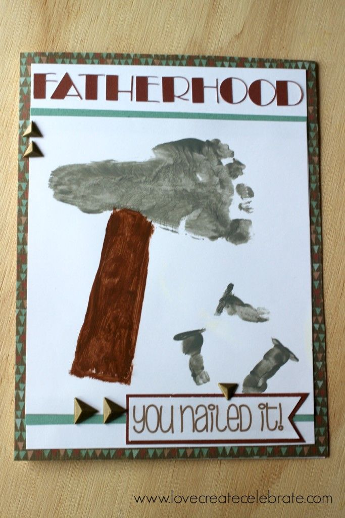 Father 39 s day footprint card crafts pinterest le pere for Garage ad le touvet