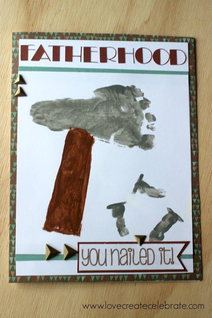 Fatheru0027s Day Footprint Card Use your