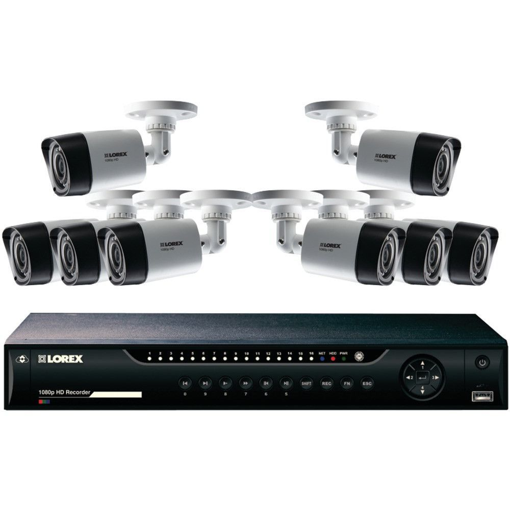 Lorex 16channel Mpx 1080p Hd 1tb Dvr With 8 1080p Cameras