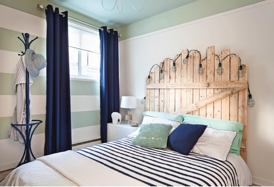 tête de lit en bois de palette  home decor furniture