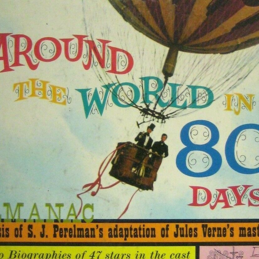 Micheal Todd S Around The World In 80 Days Almanac Hardcover Vtg