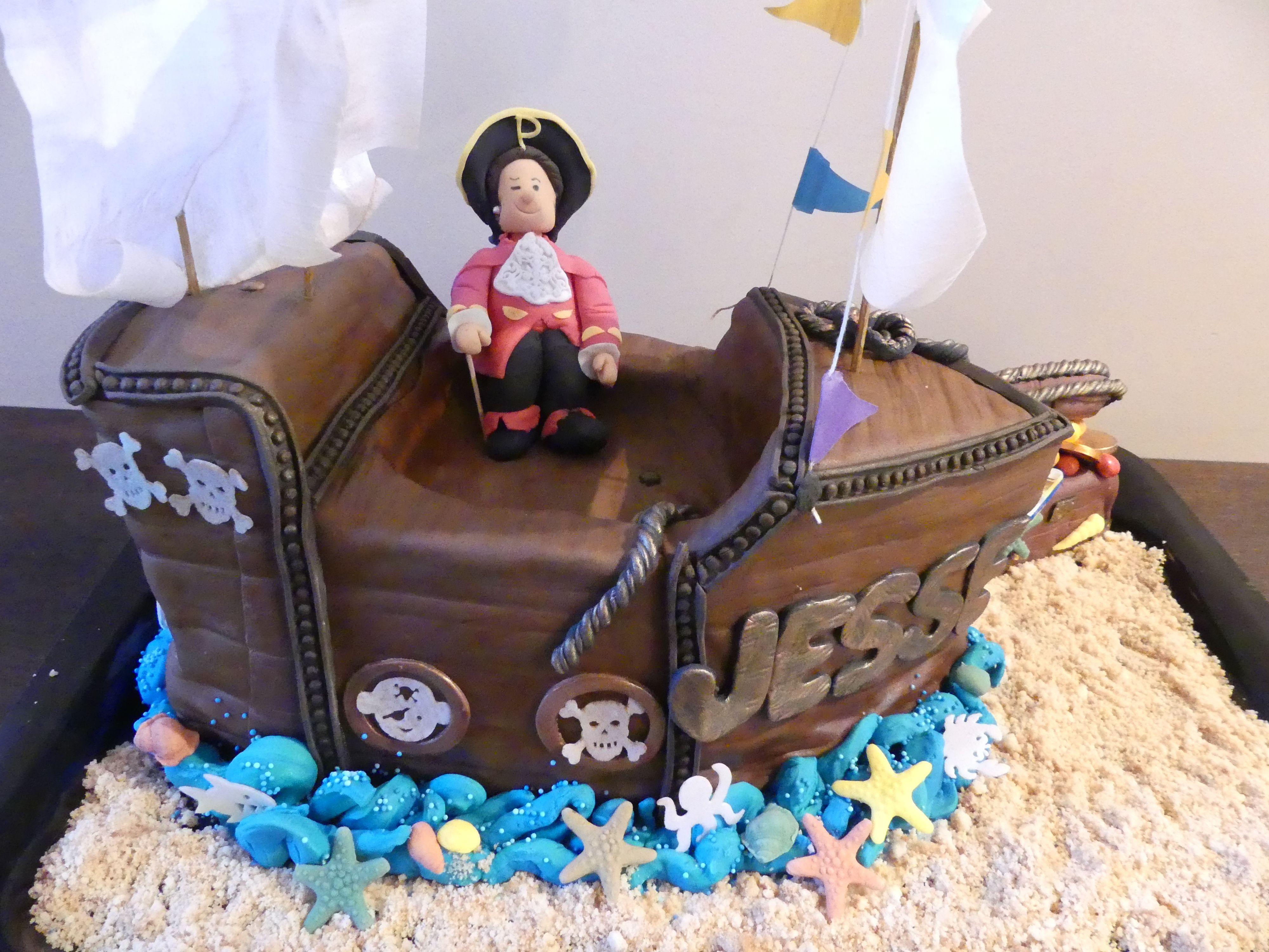 Pirate Ship Birthday Cake Roselines Creations Pinterest