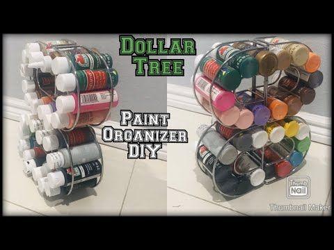 Dollar Tree organization idea for paint bottles / spices kitchen organizer/ craft room organizer DIY