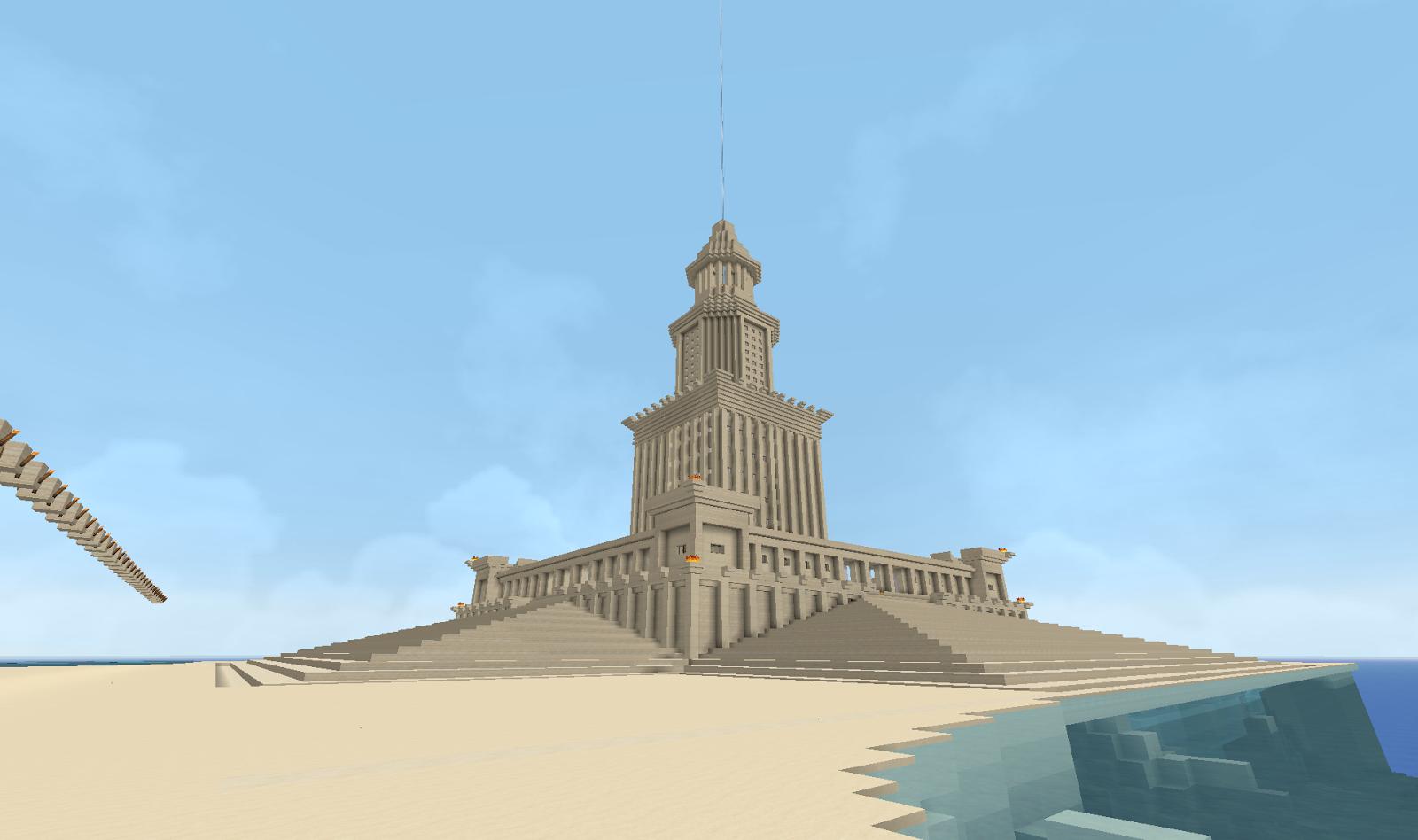 Faro de Alejandria. Diseño propio basado en ilustraciones y planos de internet,
